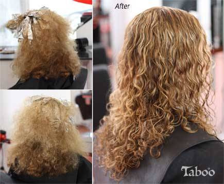 Curly hair specialist before and after hair cut result