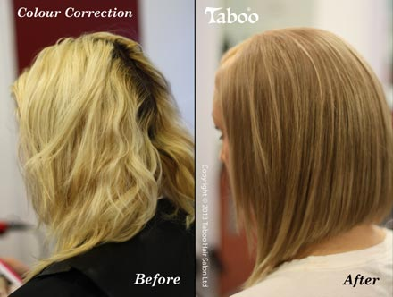 Hair colour correction by Colourist Tina Fox in Wellington