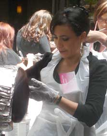 Karori Hair colourist Tina Fox, training in LA