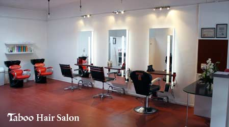 Inside view at Taboo Hair Salon in Karori Wellington